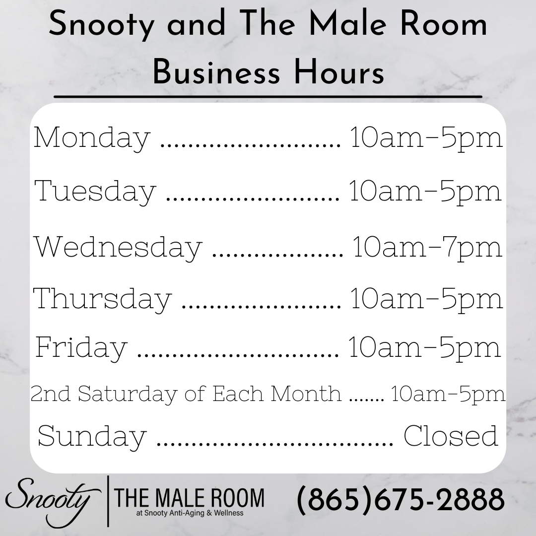 Snooty and The Male Room Business Hours